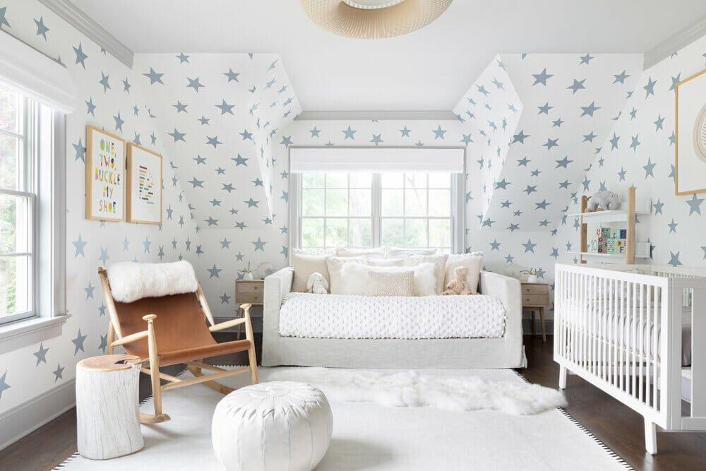 Scandinavian home decor in a cozy gender neutral nursery by Chango