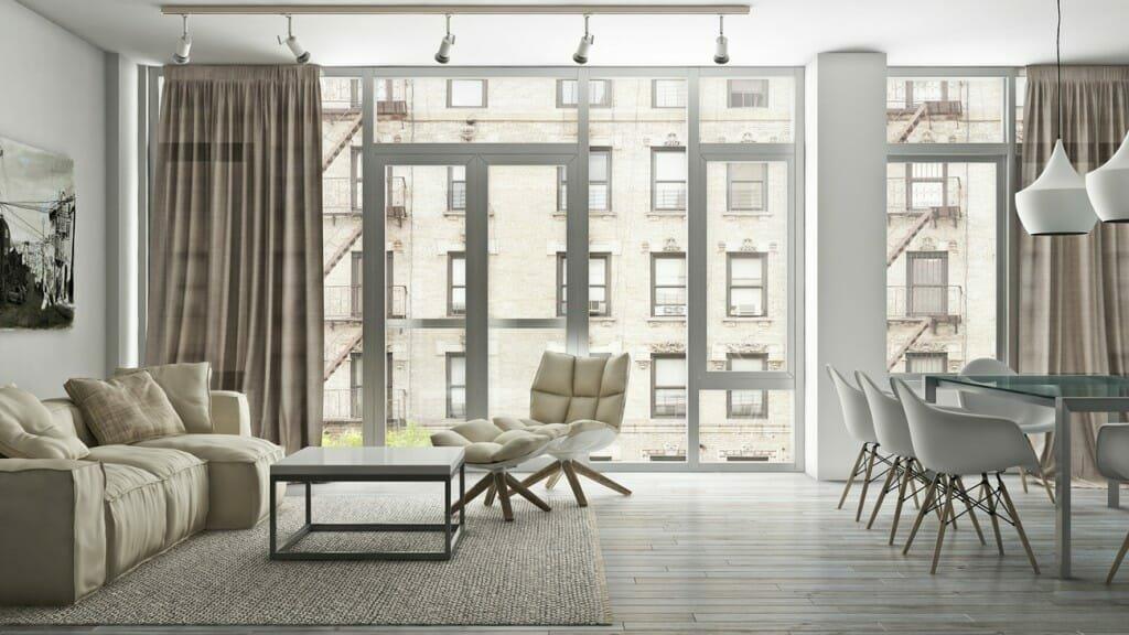 Scandinavian style home decor in a modern condo