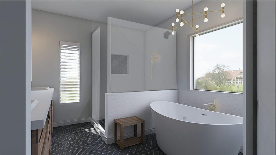 Spa-inspired bathroom by top Atlanta interior decorator