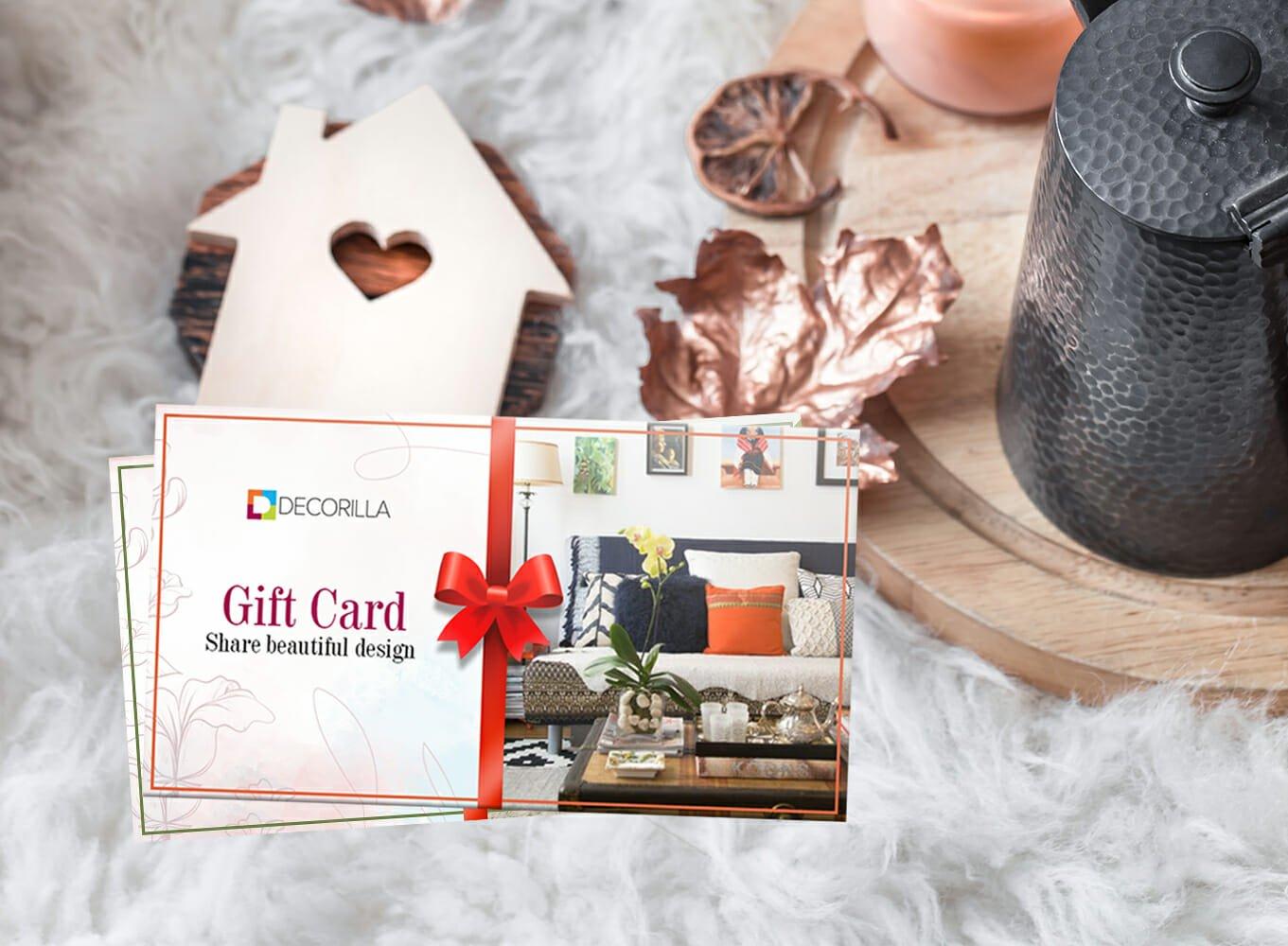 Best gift card idea - An interior design gift card