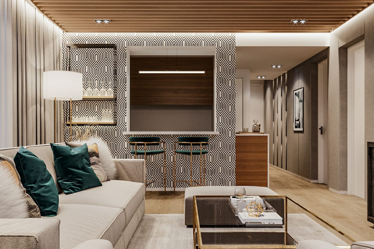 Bold patterned Living room wallpaper ideas Mladen C