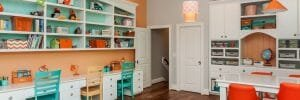 Color kids study room ideas