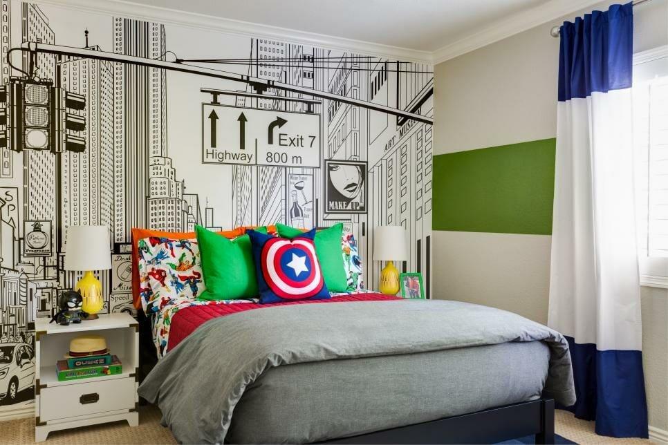 Comic-themed kids interior design