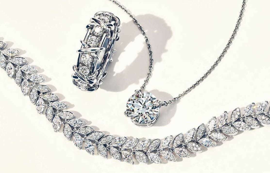 Diamond jewelry by Tiffany - great as a gift certificate idea for Valentine's day