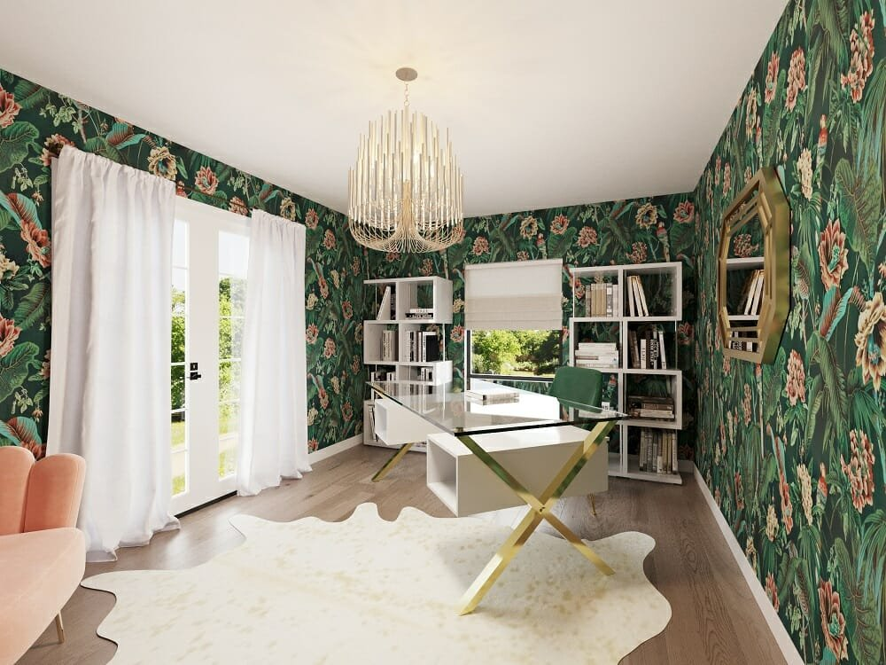 Eclectic glamorous study room with sleek design ideas by Jessica S