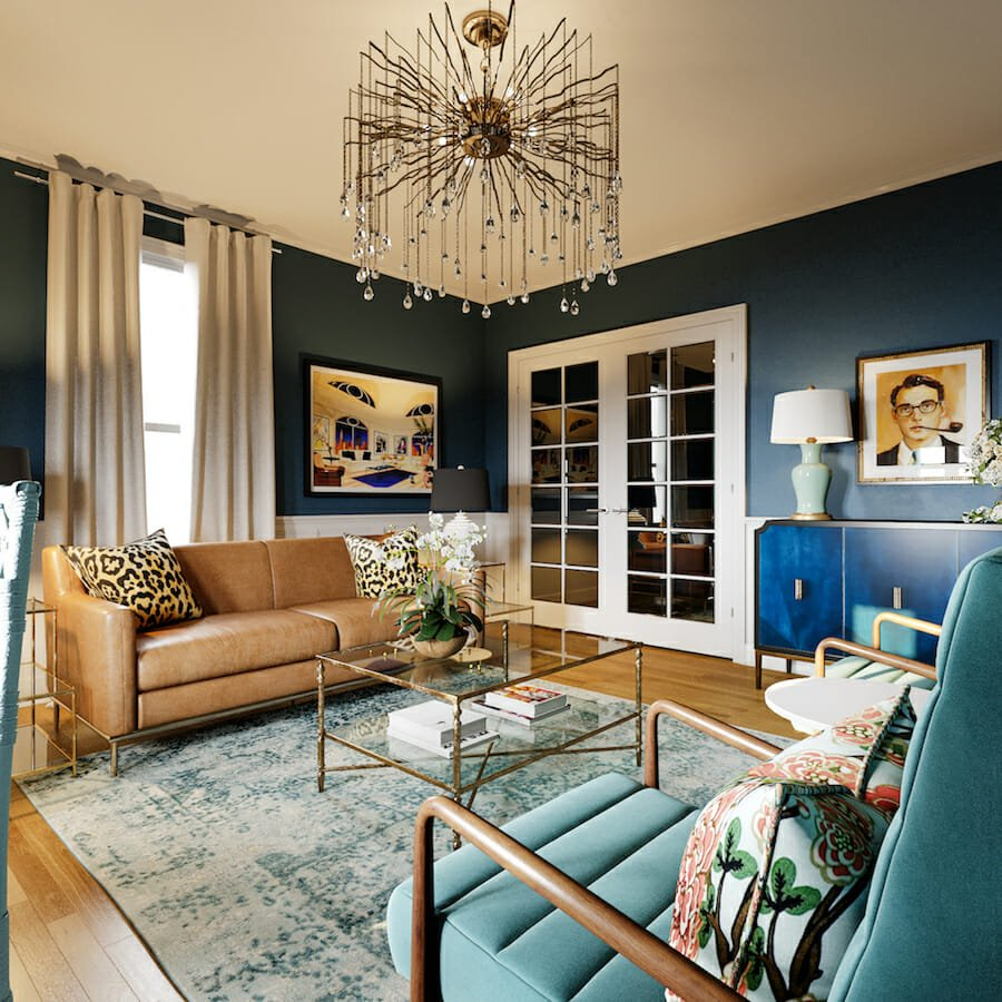 Eclectic living room makeover from an interior design gift certificate