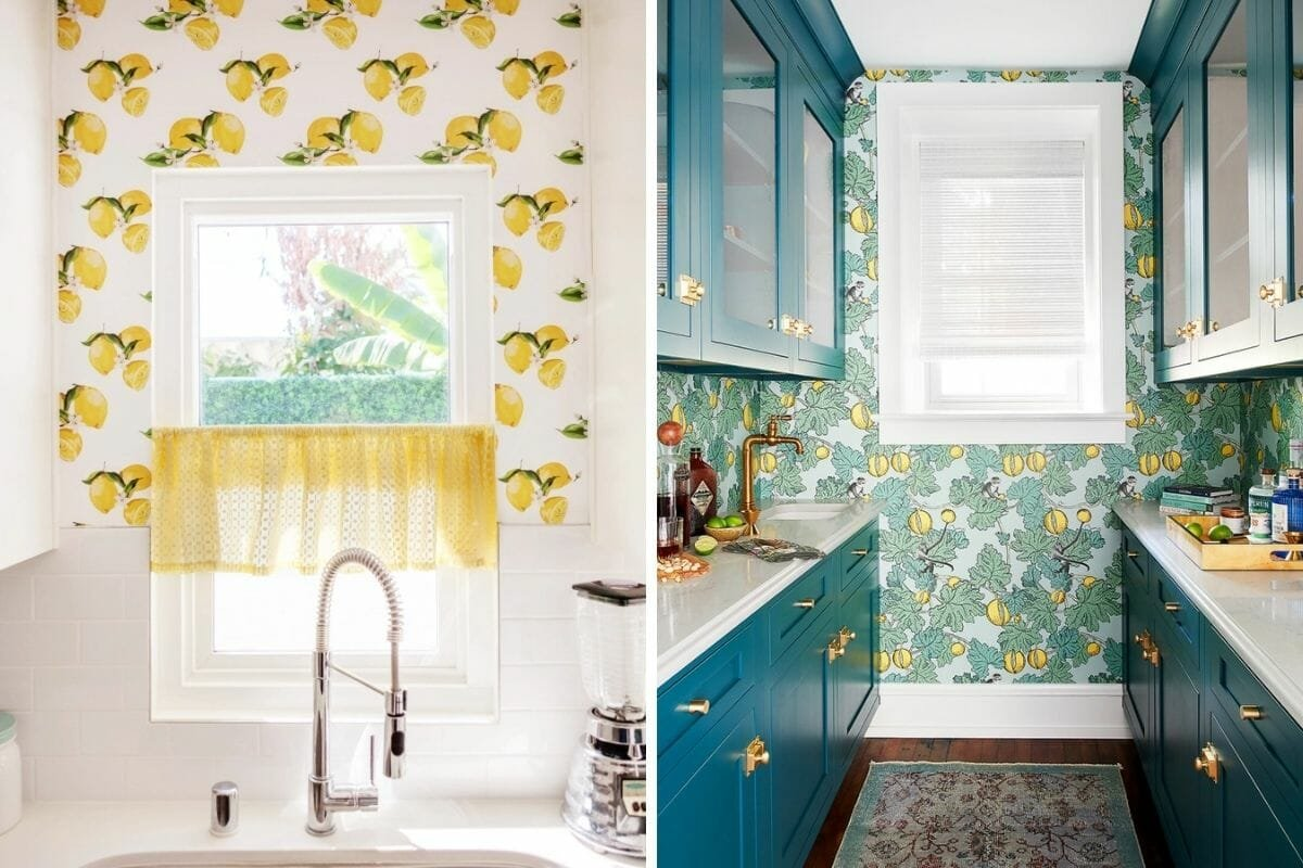 Fruit-themed kitchen wallpaper ideas give a fresh look