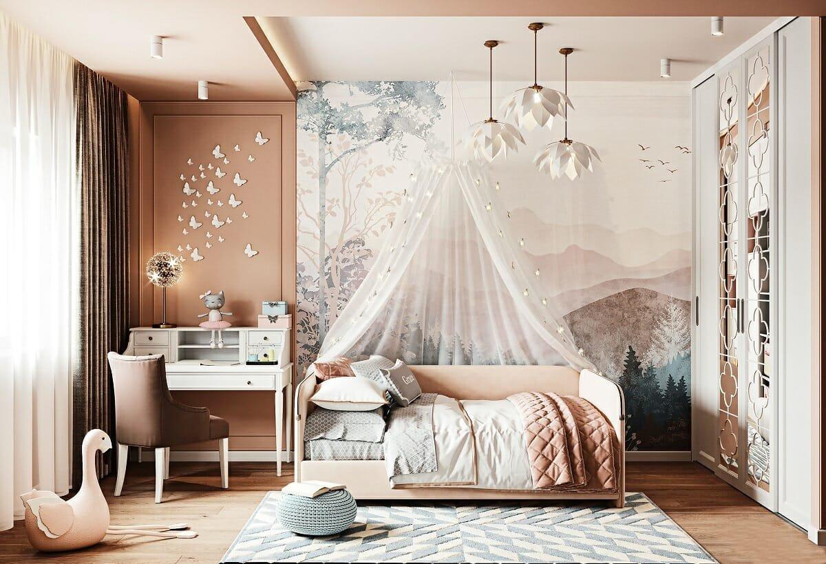 Design d'intérieur de chambre de filles