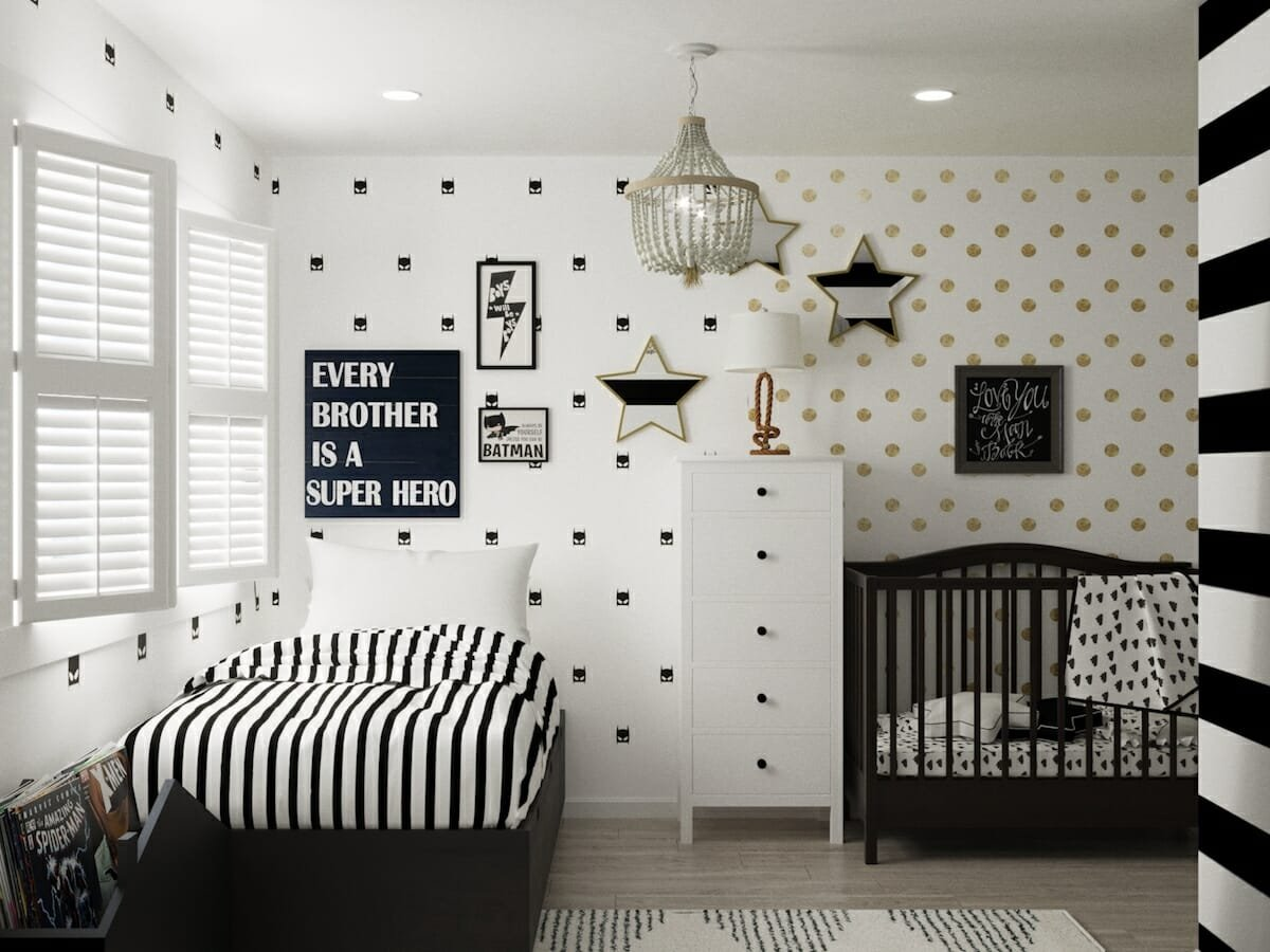 Kids Interior Design for a Shared Room Hannah D