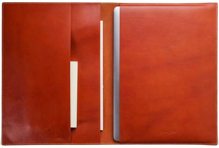Leather tablet cover by Hentley available through gift cards