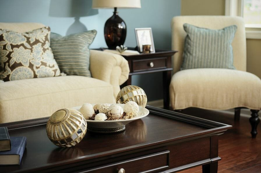 Living room decoration update available with an interior design gift card by Divine