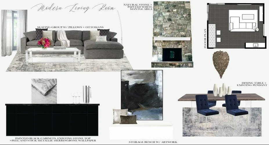 Moodboard for an e-gift card
