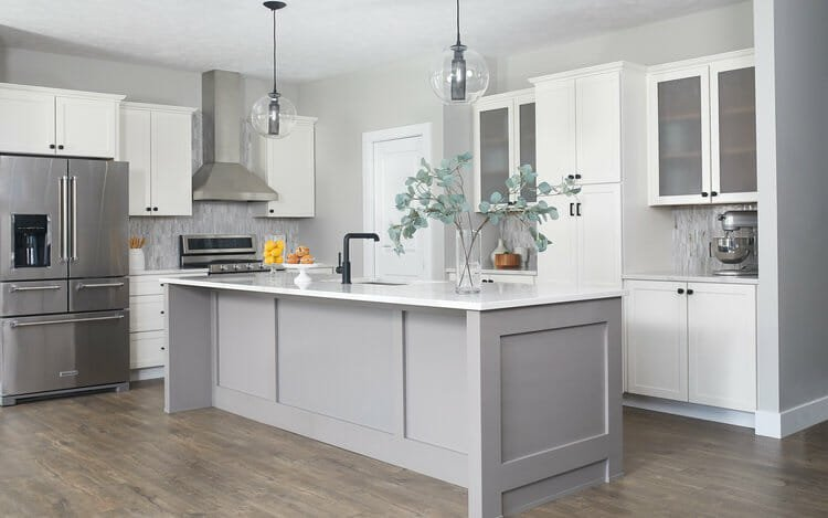 Newly renovated transitional kitchen design available with an interior design gift card by W Haus