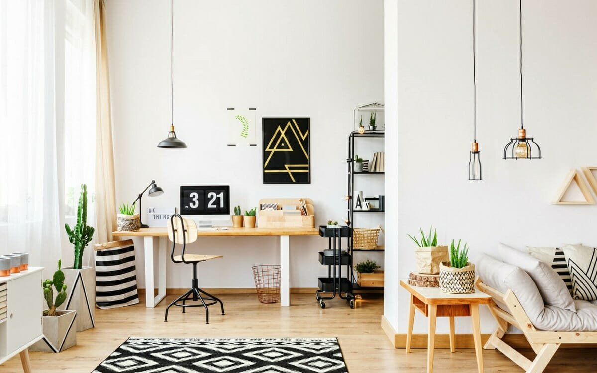 Refreshing light wood Scandinavian study room design ideas by Design Cafe
