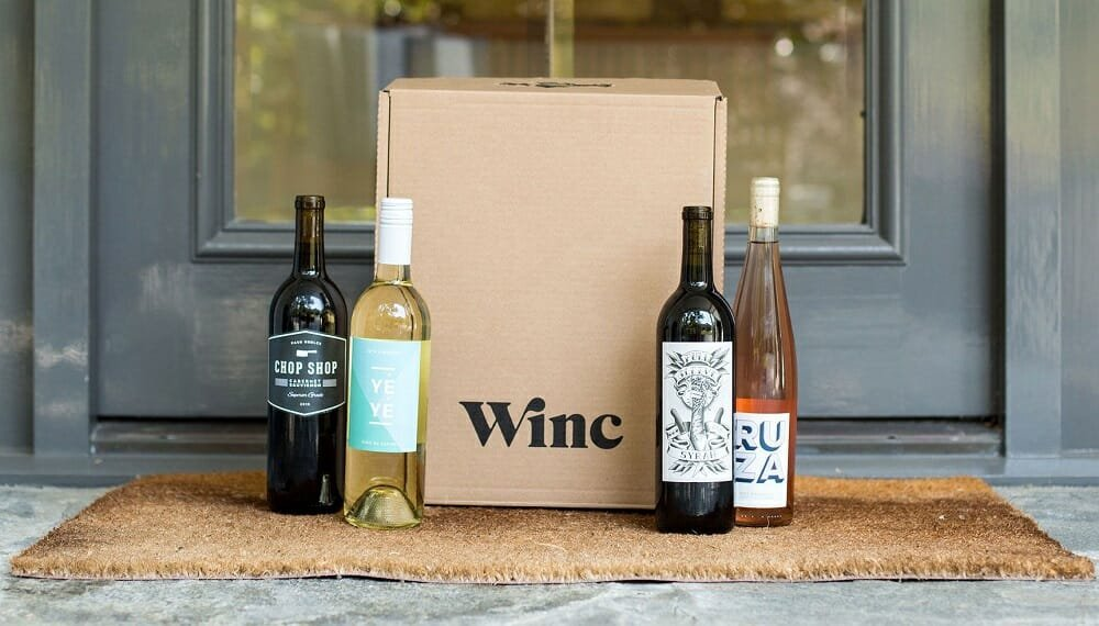 Wine selected by Winc on a front porch - good gift card ideas