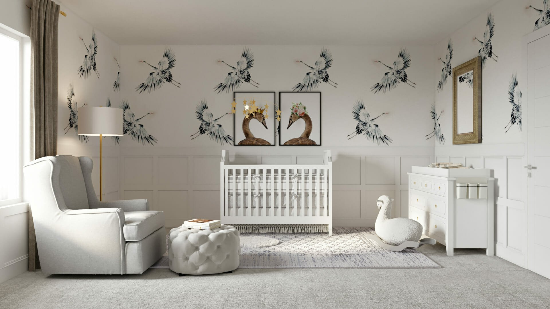 minimal nursery wallpaper design