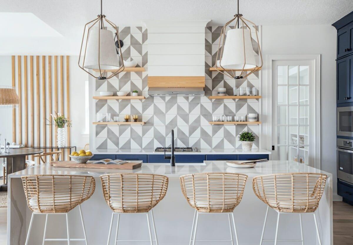 Chevron kitchen tiles