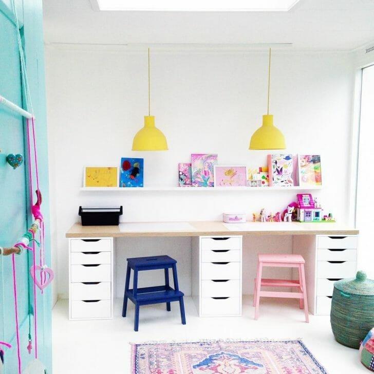 Colorful homeschool room ideas