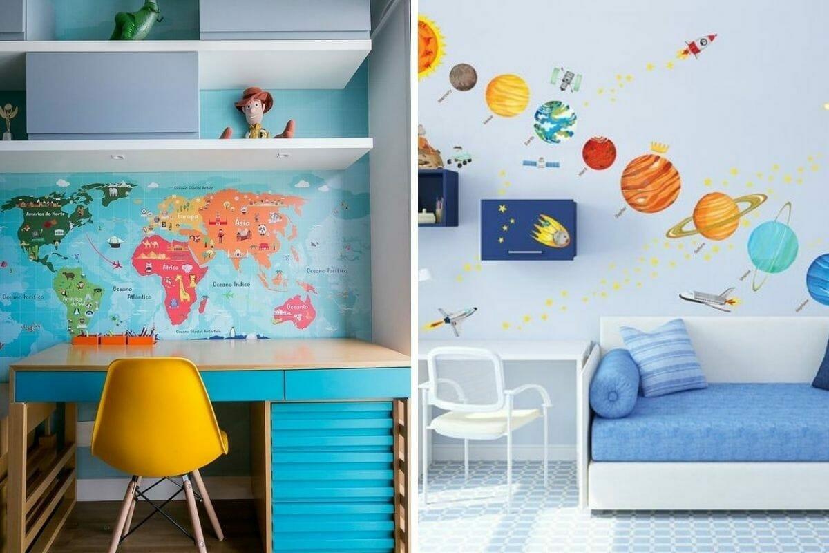 Educational homeschool room decor