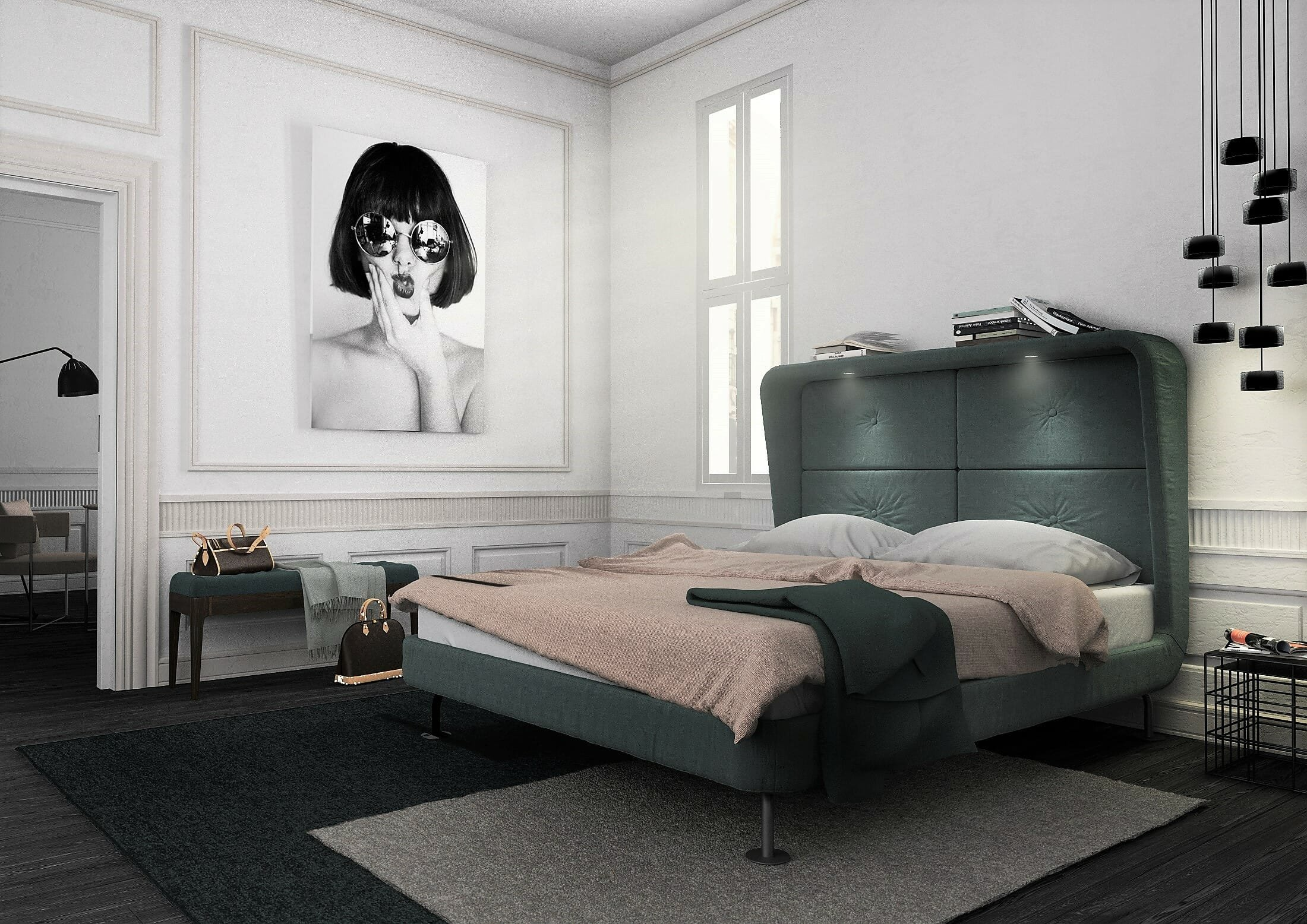 French chic master bedroom design by Decorilla designer Christian G