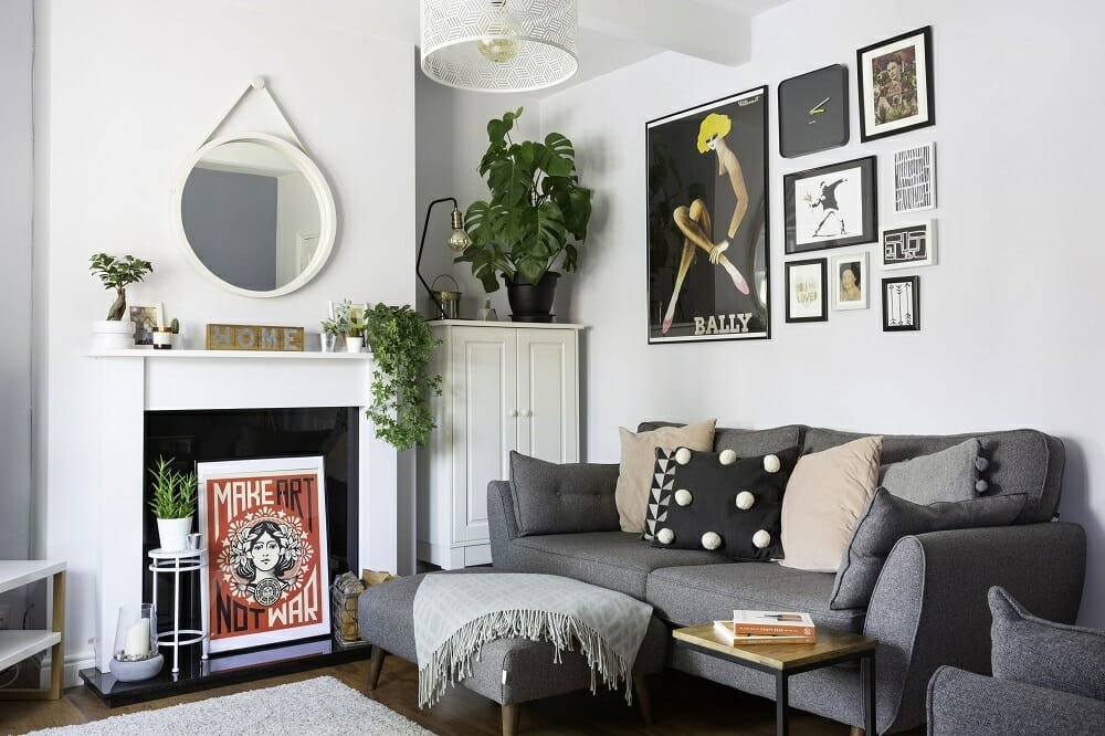 Grey fall color schemes for a lounge Real Homes
