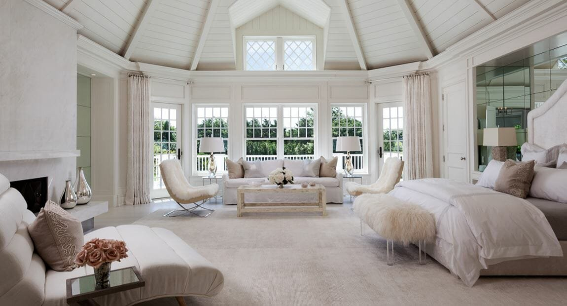 Luxury master bedroom design by Decorilla designer Tammy M