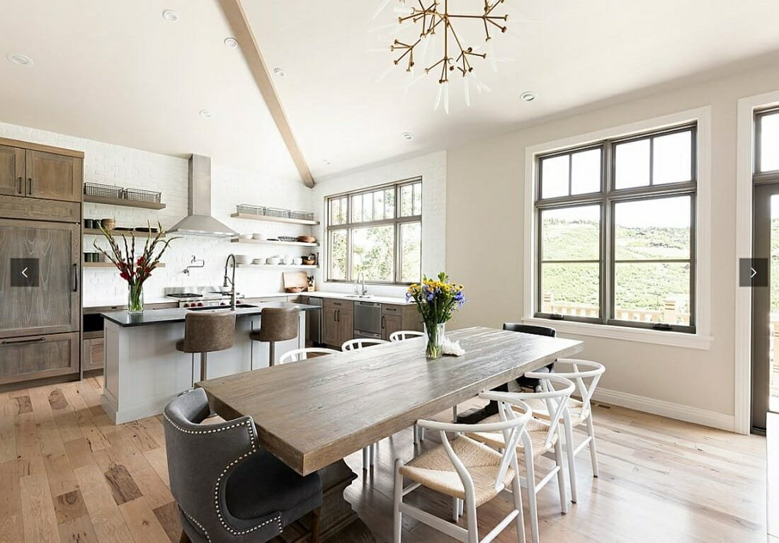 Modern farmhouse kitchen and dining room by WPL - Philadelphia interior designers