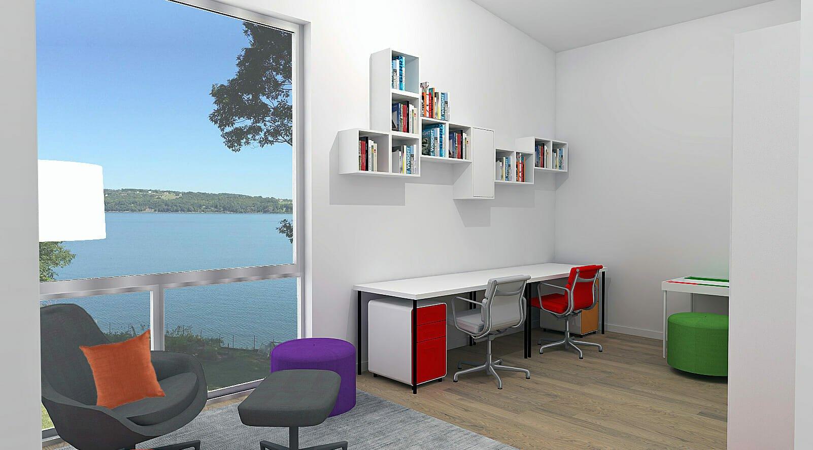 Modern homeschool room ideas by Decorilla designer, Laura A.