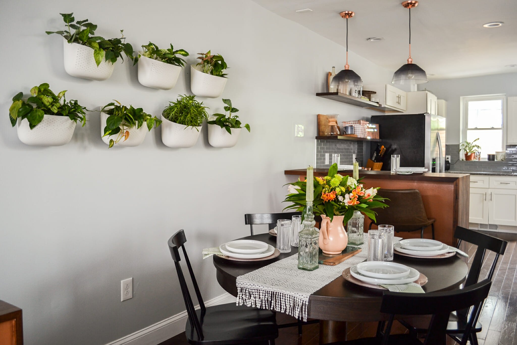 Open kitchen and dining by top philadelphia interior designer Johanna A.