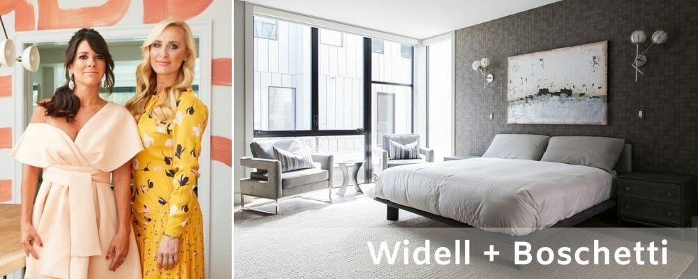 Philadelphia interior designers Widell and Boschetti's pattern-rich bedroom interior design