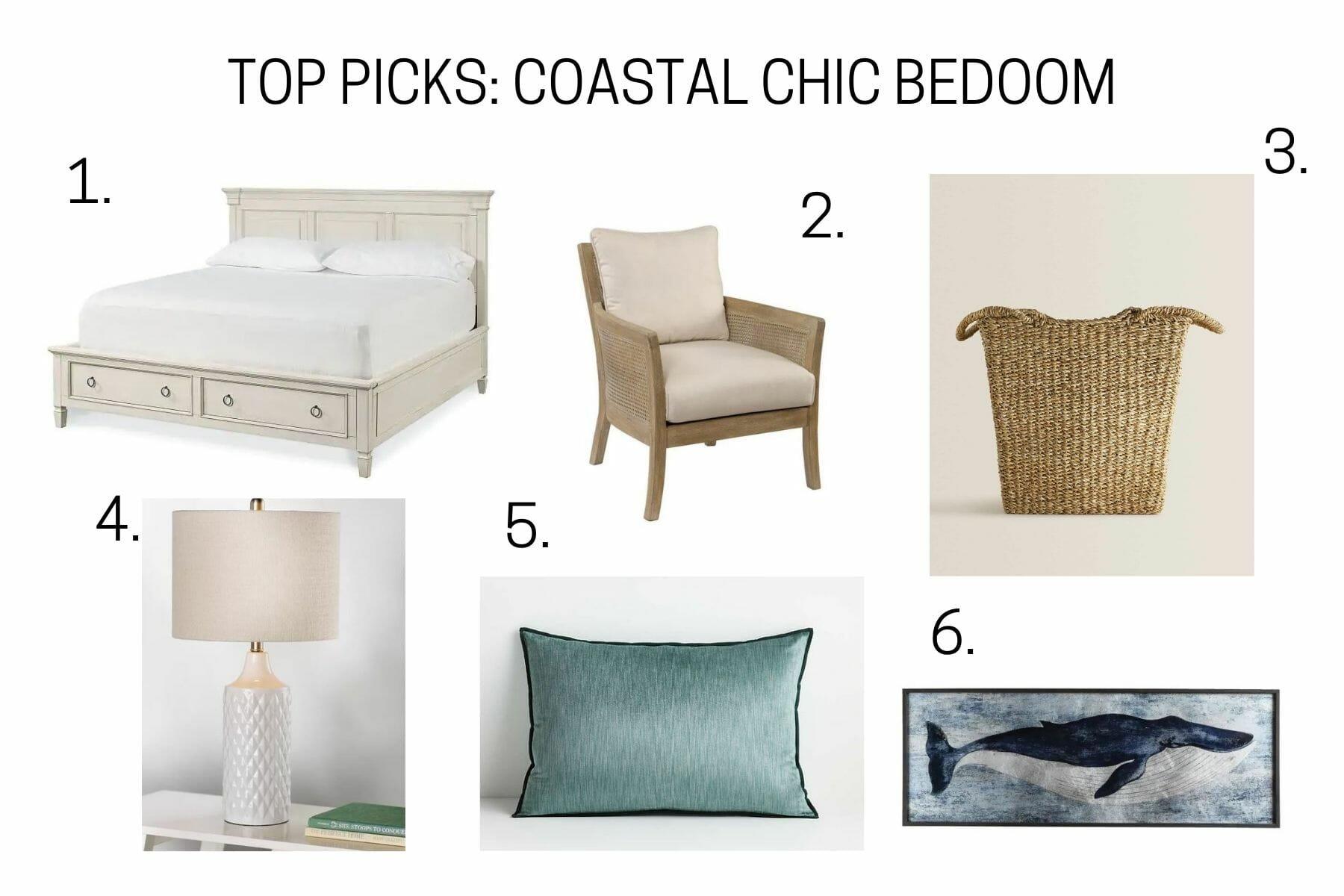 TOP PICKS COASTAL CHIC BEDOOM