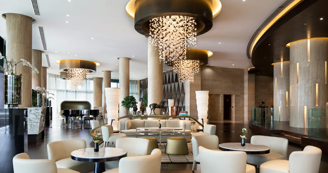 commercial interior design hotel lobby