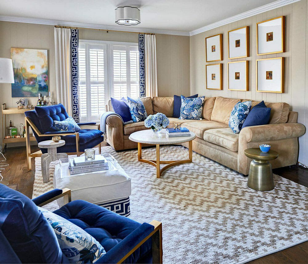 living room by on of the top-charlotte-interior-designers-traci-zeller