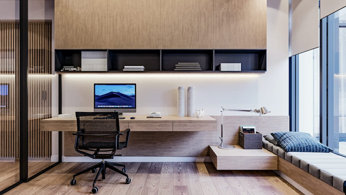 Clutter free zoom ready home office