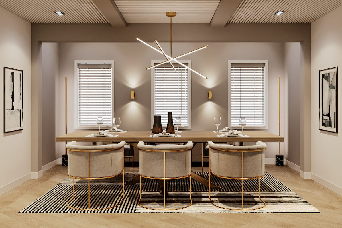 Cyber Monday deals create a sophisticated dining room by Decorilla designer, Mladen C.