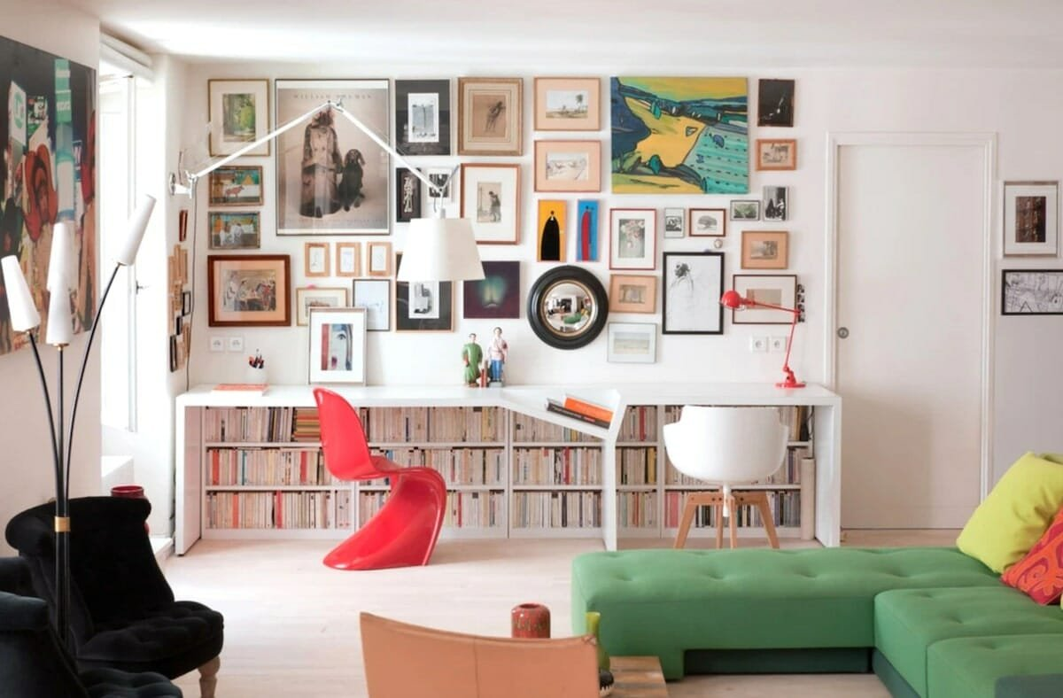 Eclectic zoom ready home office