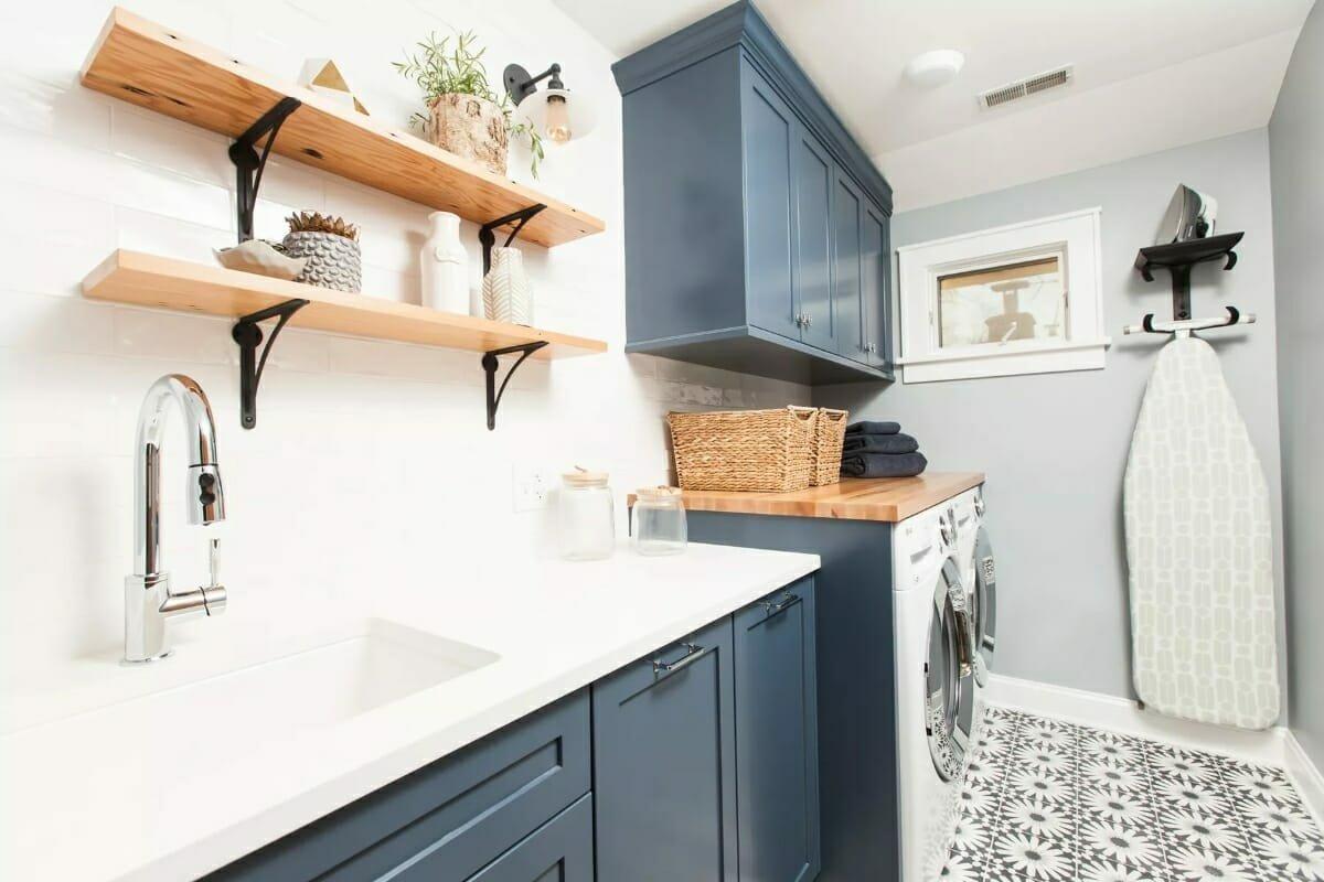 Small-Laundry-Room-Ideas-Blue-
