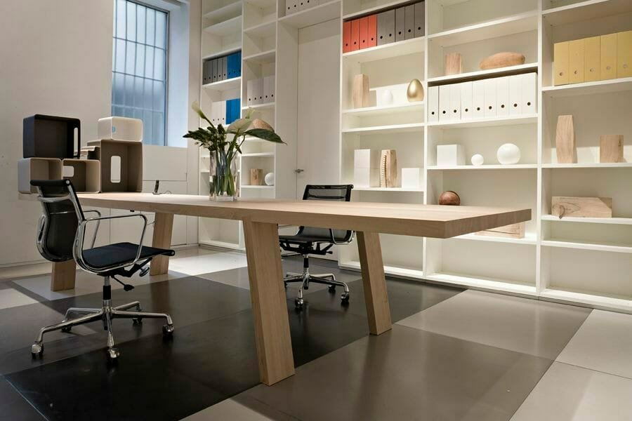 bright and modern home office background ideas