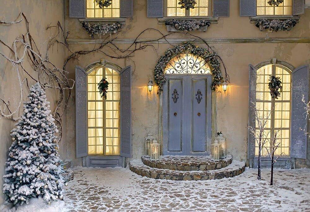 Elegant Christmas door decorations