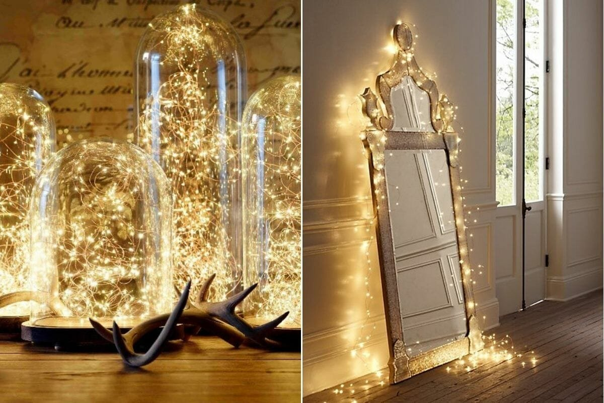 Fairy lights set the mood when you decorate for new year's eve
