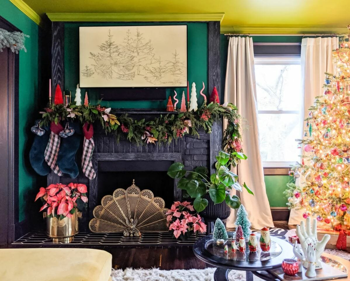 How to decorate for Christmas in a maximalist style