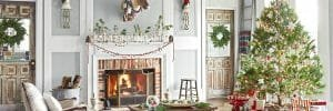 How to decorate for Christmas with chic ornaments in a living room