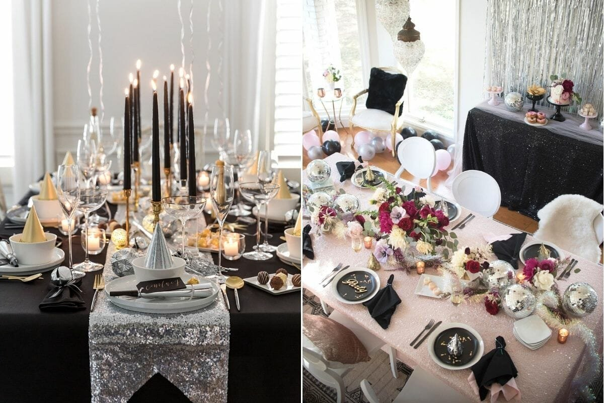 Lovely new years centerpieces