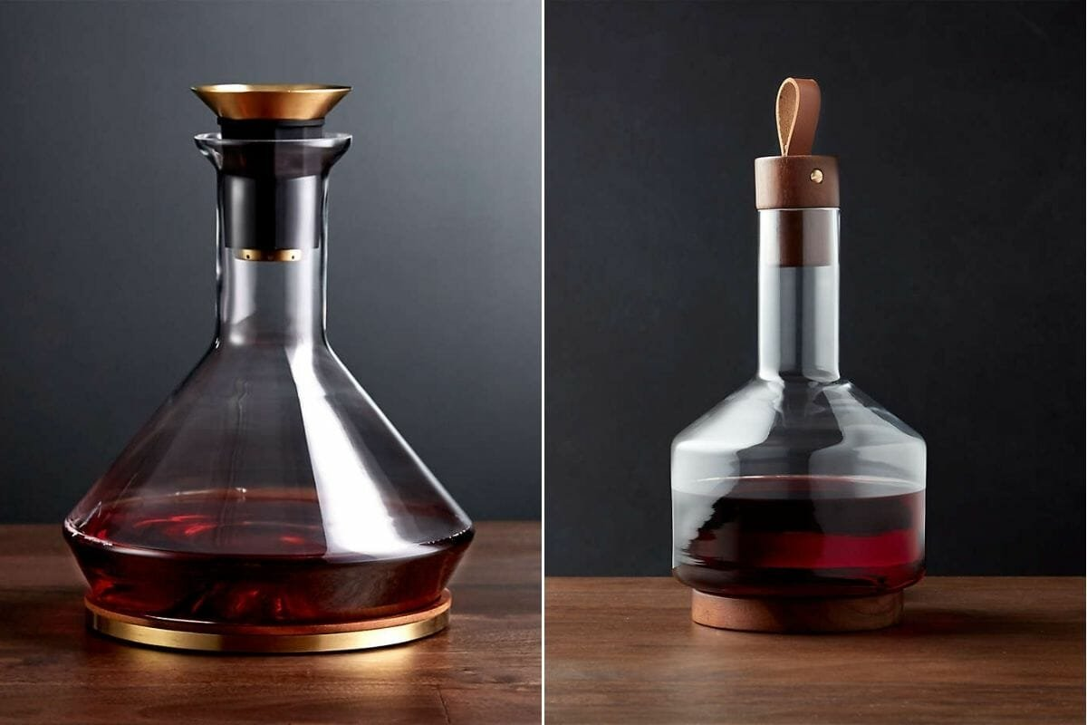 Master glassware decanters as gifts for interior design lovers