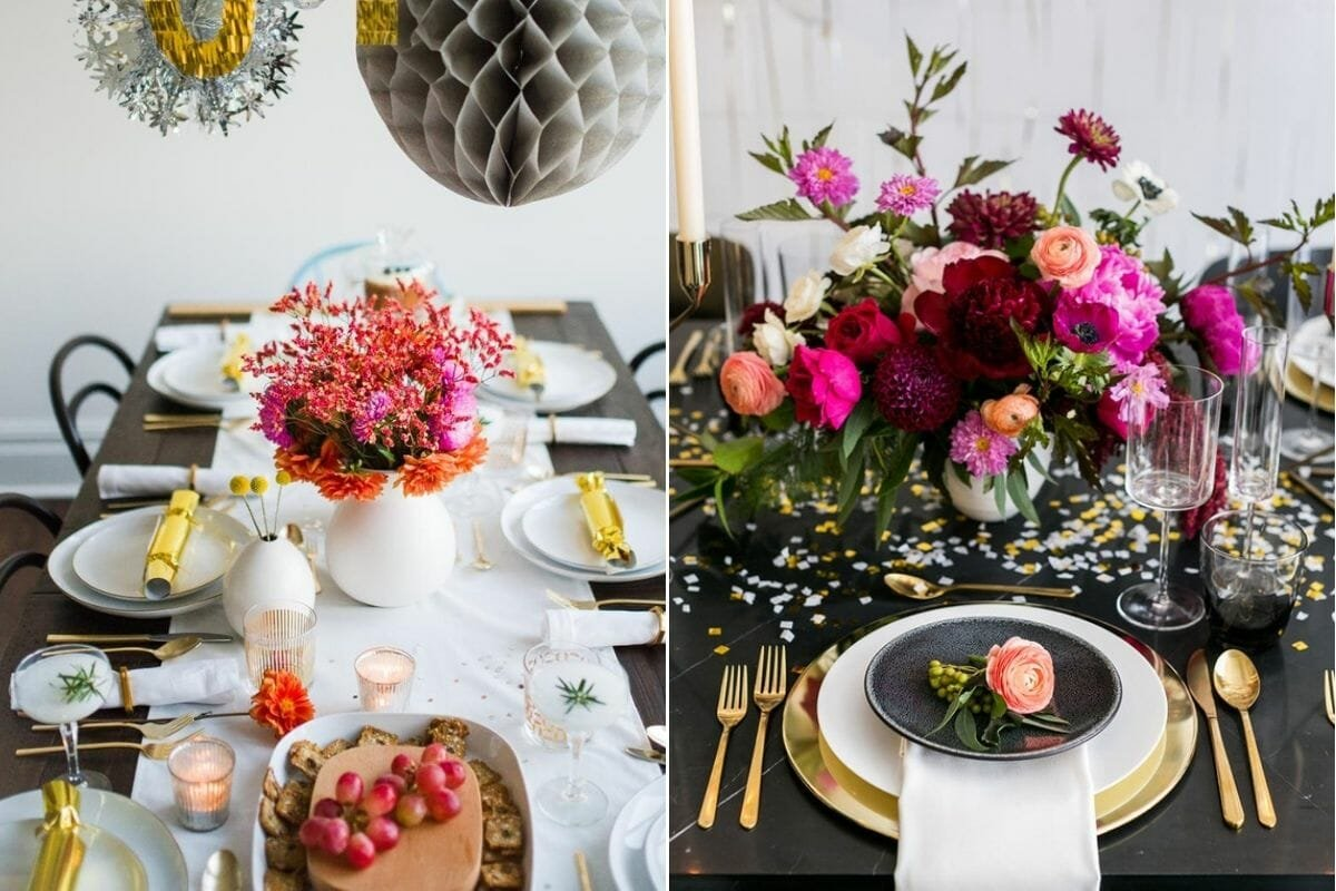 New Year decoration ideas for beautiful tablescapes