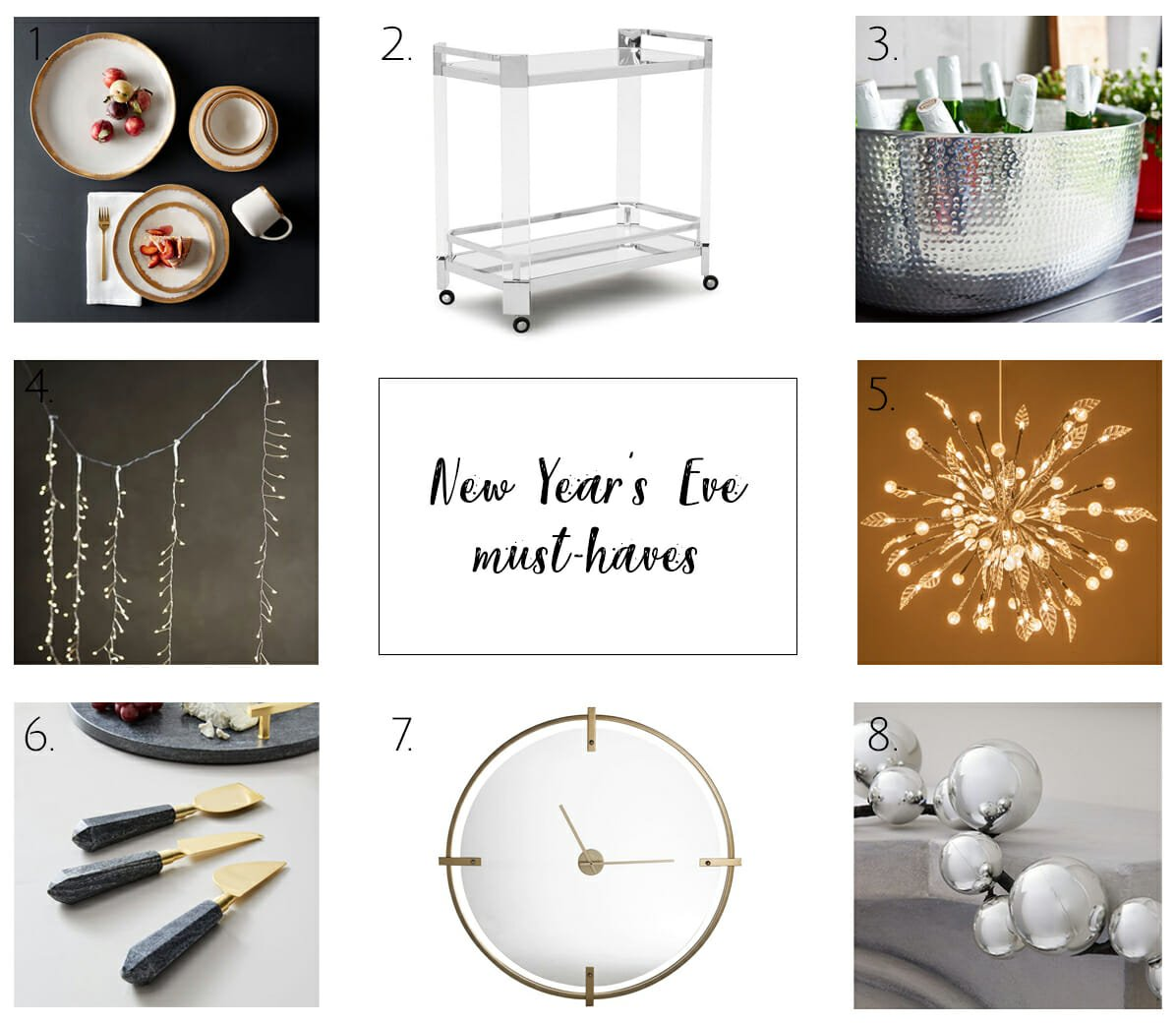 Top picks to decorate for New Year's Eve