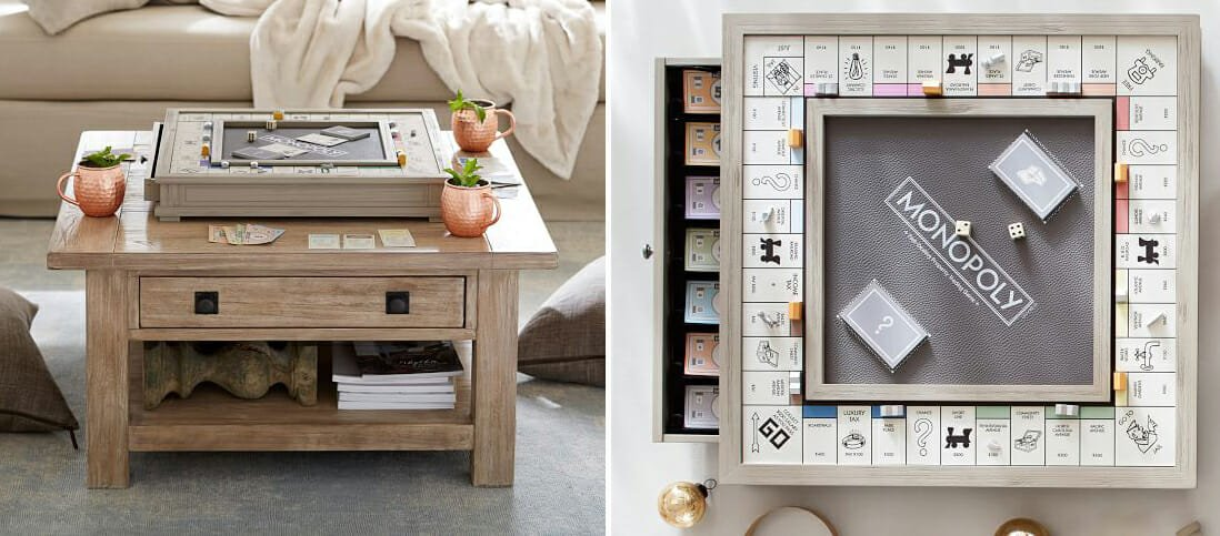 Wooden monopoly as an interior design present