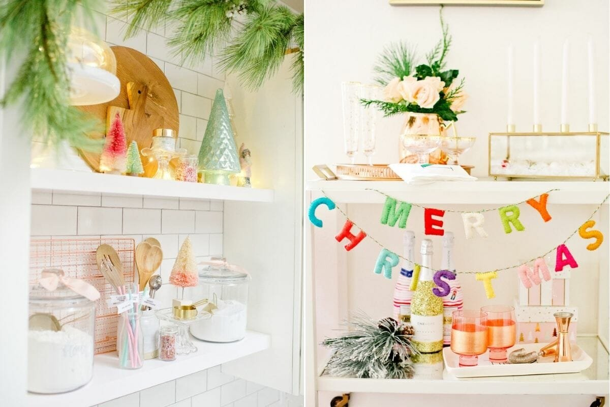 how to decorate for Christmas with fun colors