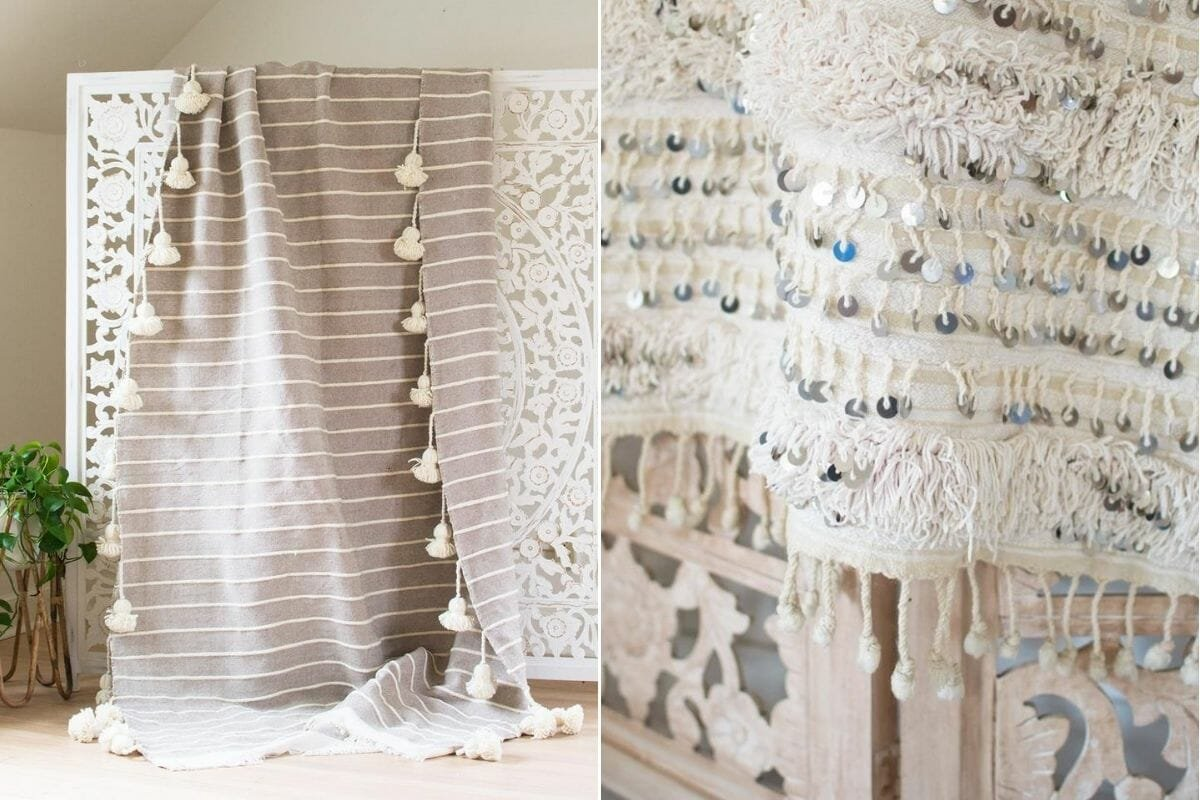 interior design ornaments like throws make great presents for the holidays