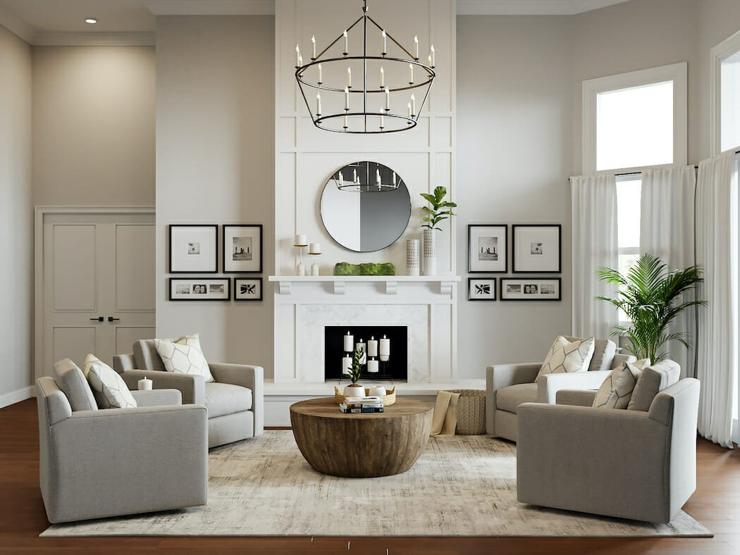 Bright and natural winter mantel ideas